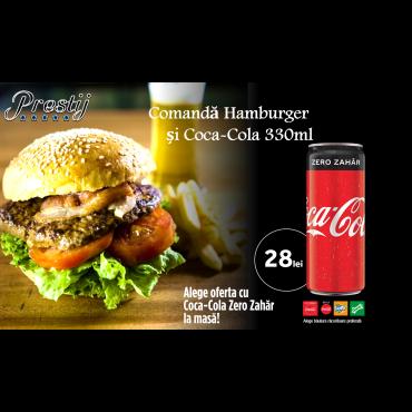 Hamburger + Coca Cola doza 330ml
